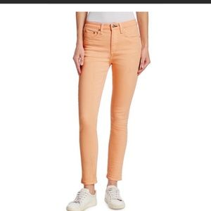 New rag & bone peach skinny jeans high waisted 25